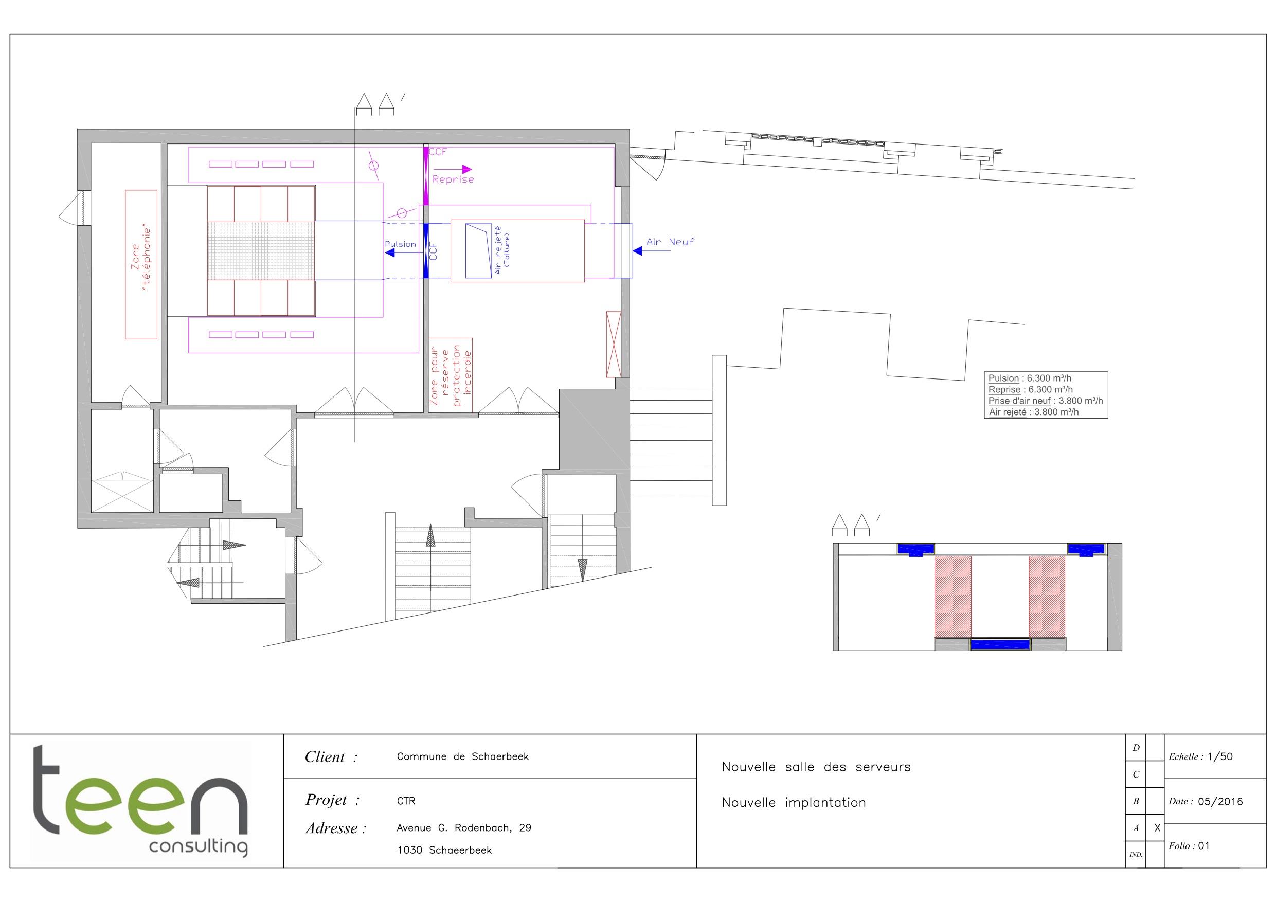 Nouvelle Implantation - Salle Serveurs - Schaerbeek - A3 - VF - 20160502
